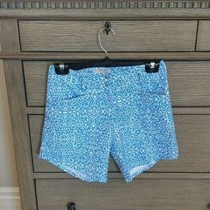 Adidas Blue Patterned Golf Shorts Size 0